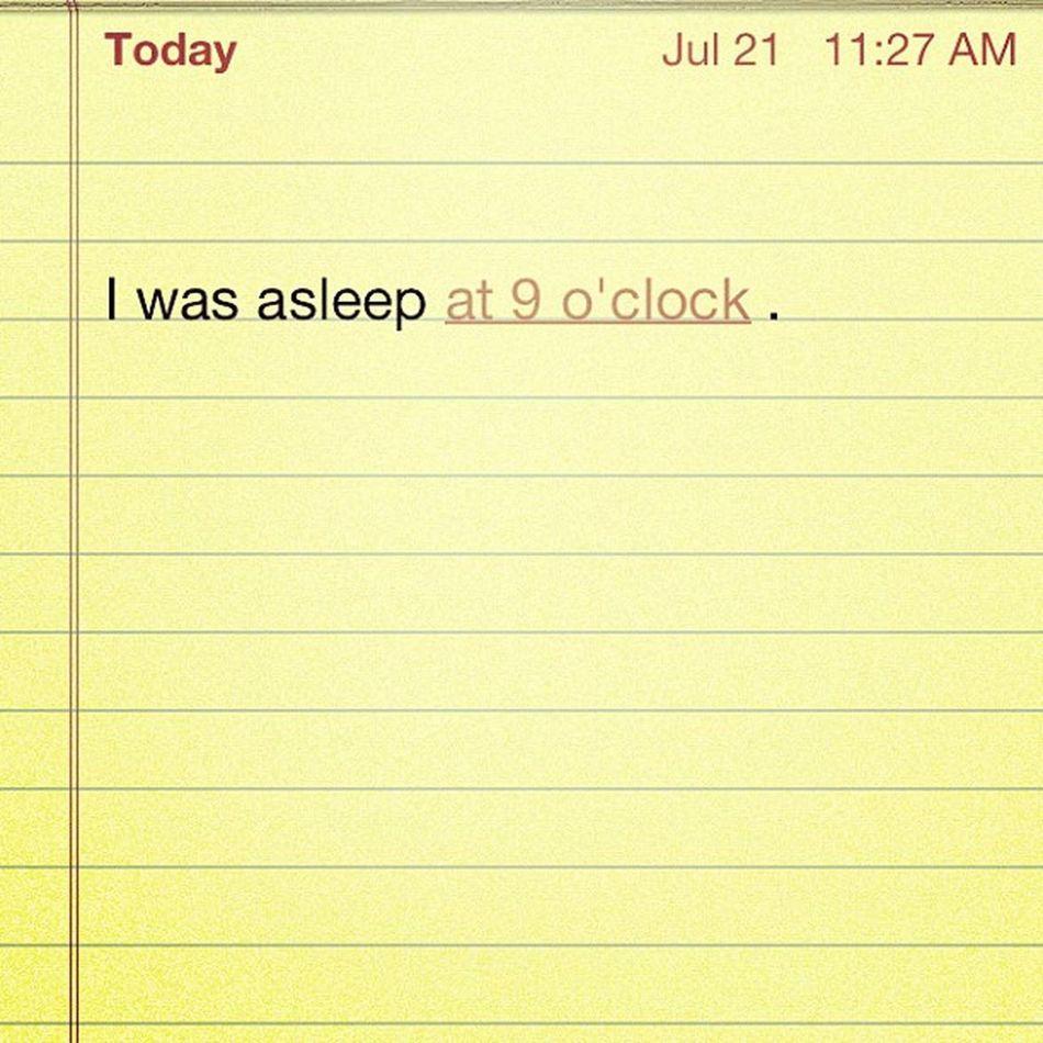 July21 9oclock