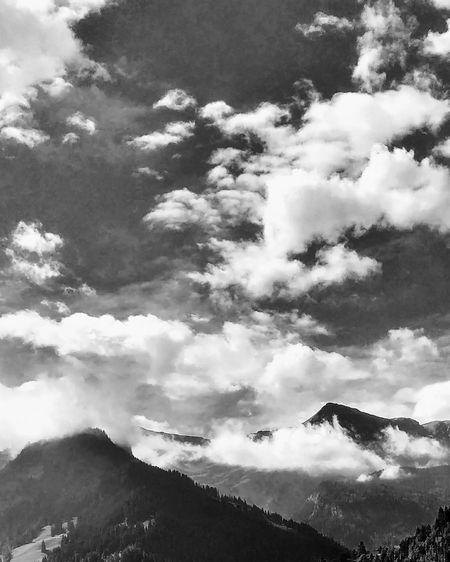 Tree Cloud - Sky Mountain Outdoors Forest Sky Nature No People Day Beauty In Nature Landscape Switzerland Alps Schweiz 🇨🇭, Berner Oberland Simmental Lenk EyeEm Selects