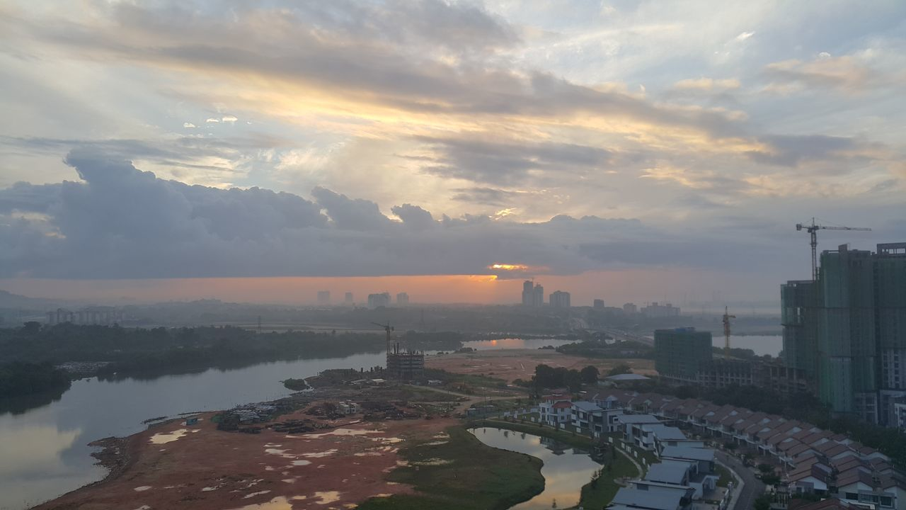 Arrival Social Issues Sunset Water Buying Landscape Business Finance And Industry Beauty Outdoors Commercial Activity Cityscape Consumerism Fog Urban Skyline Sky No People Night Mountain Malaysia Johor Bahru City