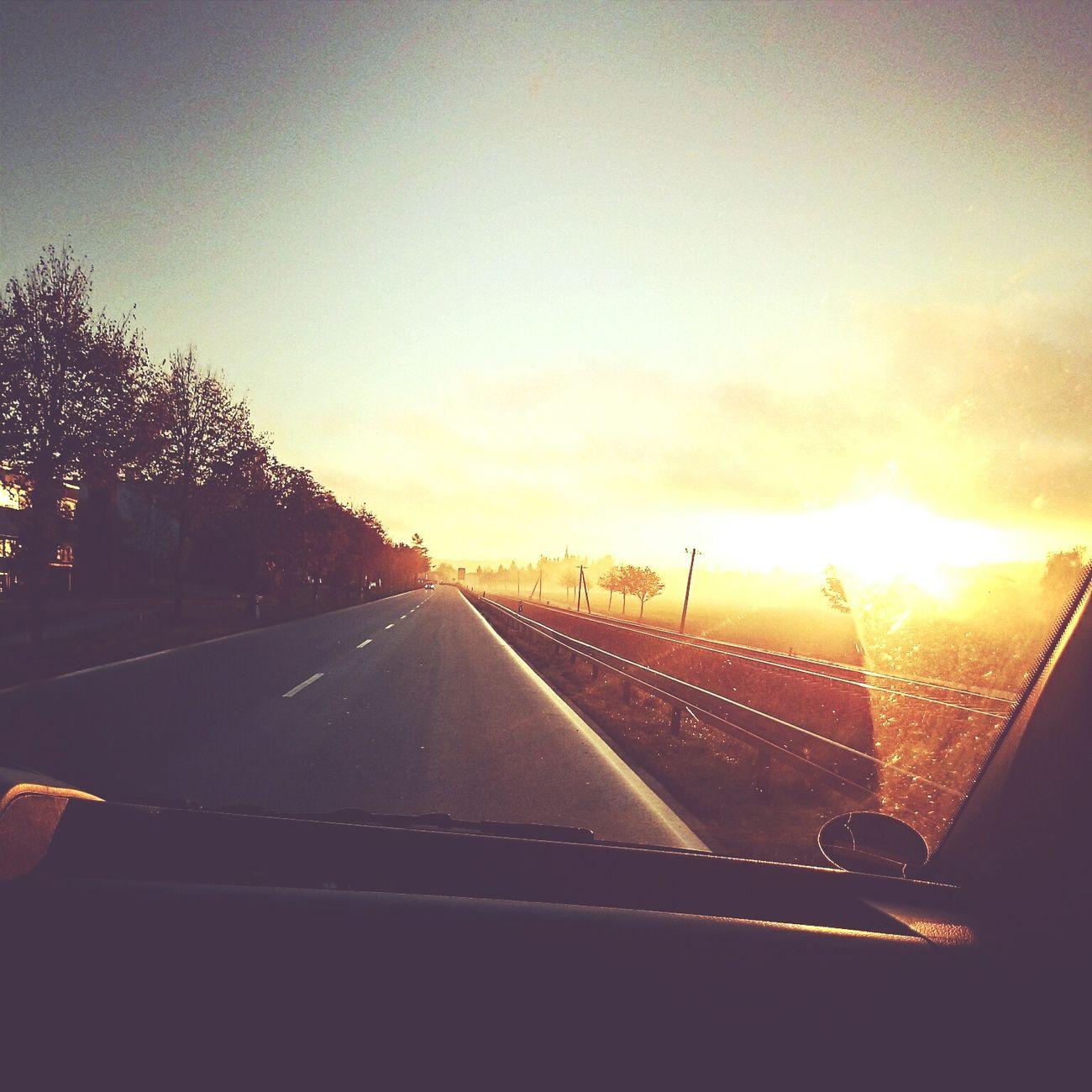 Street Sunrise Taking Photos Enjoying Life Sky