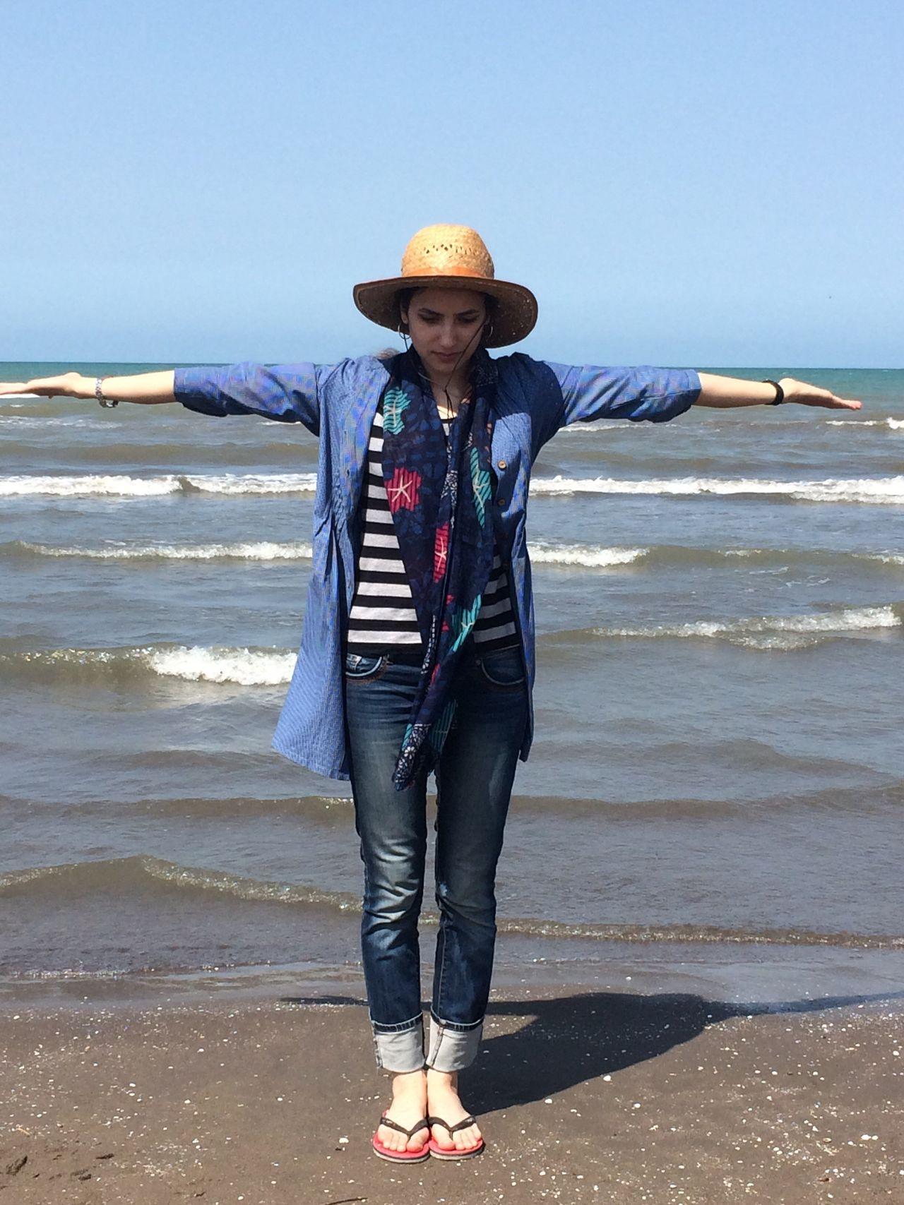 43 Golden Moments The Sea And Me Woman And The Sea All In Sea Blue Sky Blue Sea Caspian Sea Iran Gilanphotography Gilan Fine Art