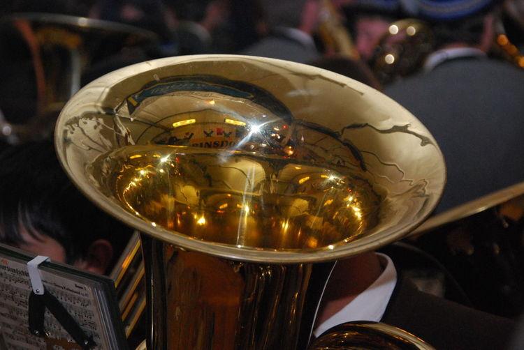 Blasinstrument Focus On Foreground Gold Colored Musik Musikinstrument Musikinstrumente No People Tuba
