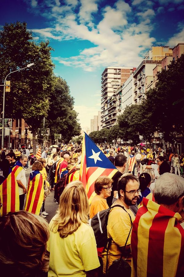 Today, hundreds of thousands of citizens of Catalonia have joined hands in their streets and roads along over 400 km to claim the democratic right to decide our future ViaCatalana Catalunya Diada 2013 Catalanway