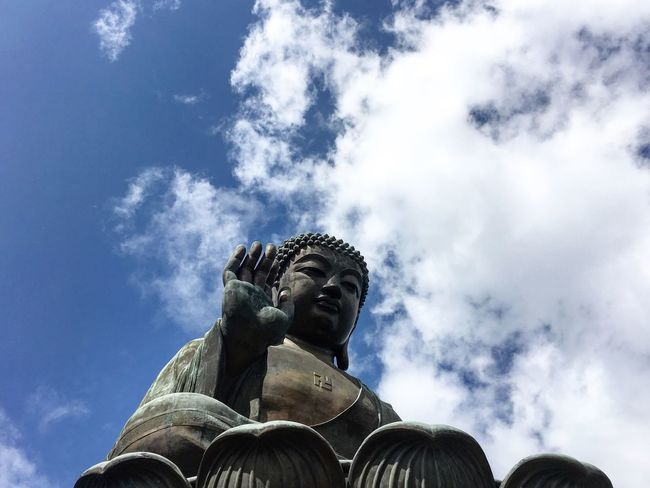Statue Human Representation Cloud - Sky Low Angle View Sculpture History Outdoors