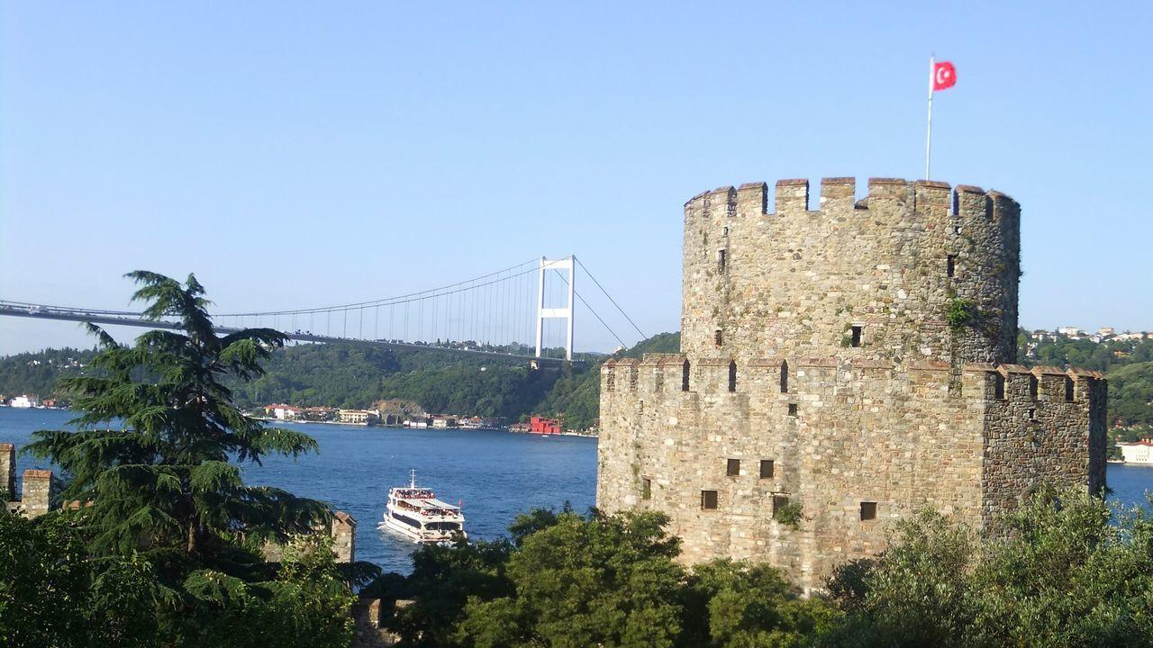 Ramparts Summer Travel Turkey View Blue Sky August Life Ship Sea#tree#