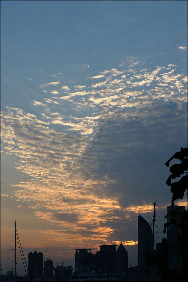 지난 여름 칭다오 하이신 광장 Sky_collection Cloudporn Sunset A700