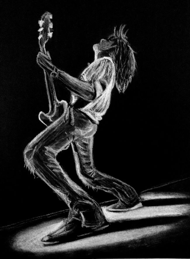 Guitarist inspired by Joe Perry of Aerosmith Drawing Sketch ArtWork Charcoal Chalk Music Guitar Gig Concert Legend Rock N Roll Blues First Eyeem Photo