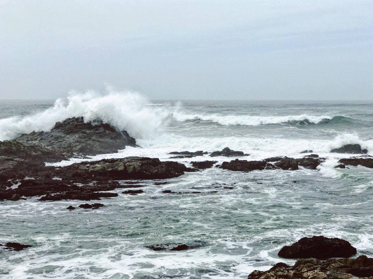 Sea Wave Power In Nature Hitting Crash Force Motion Nature