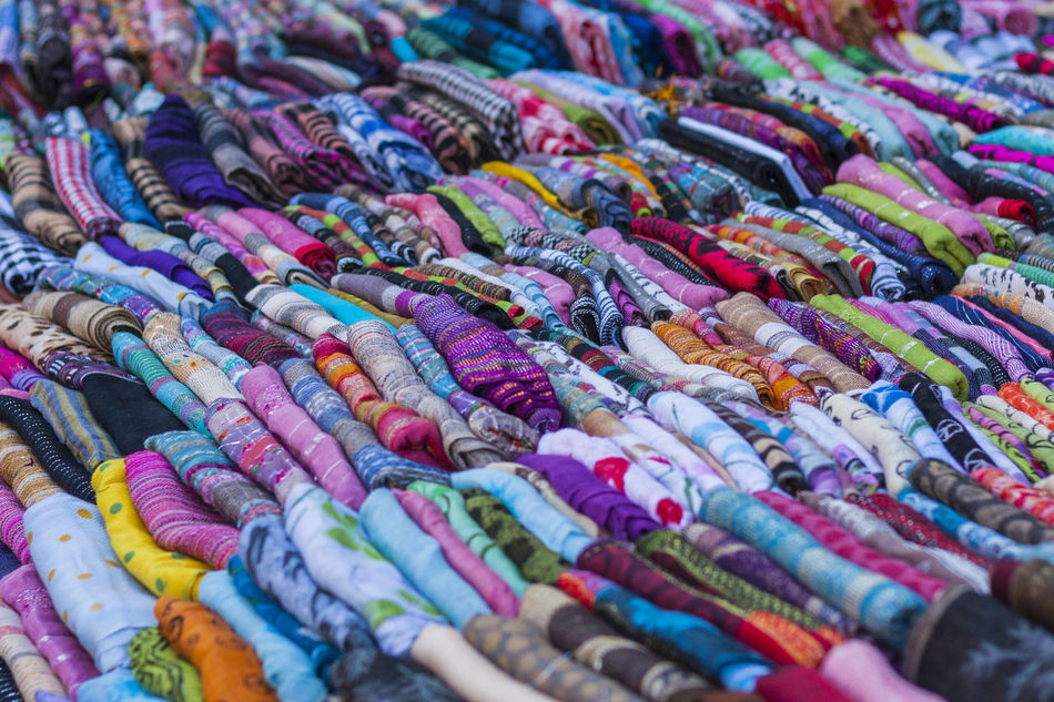 Fabric Display in Portobello Road Market, Kensington and Chelsea, London, England, United Kingdom Abundance Backgrounds Choice Choice Close-up Cloth Colourful Day Display Fabric Fashion For Sale Full Frame Large Group Of Objects Market Multi Colored No People Outdoor Retail  Retail  Selective Focus Shop Street Market Things Variation