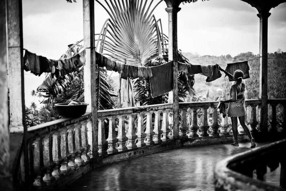 Africa Afrika Aktivurlao Balcony Balcony View Balkon Beauty Black & White Black And White Photography Clothes Kolonialstil Outdoors Principe  Sao Tome Terrace Tourist Destination Tropical Tropical Climate Tropical Paradise Urlaub & Reisen Woman Wäscheleine EyeEmNewHere
