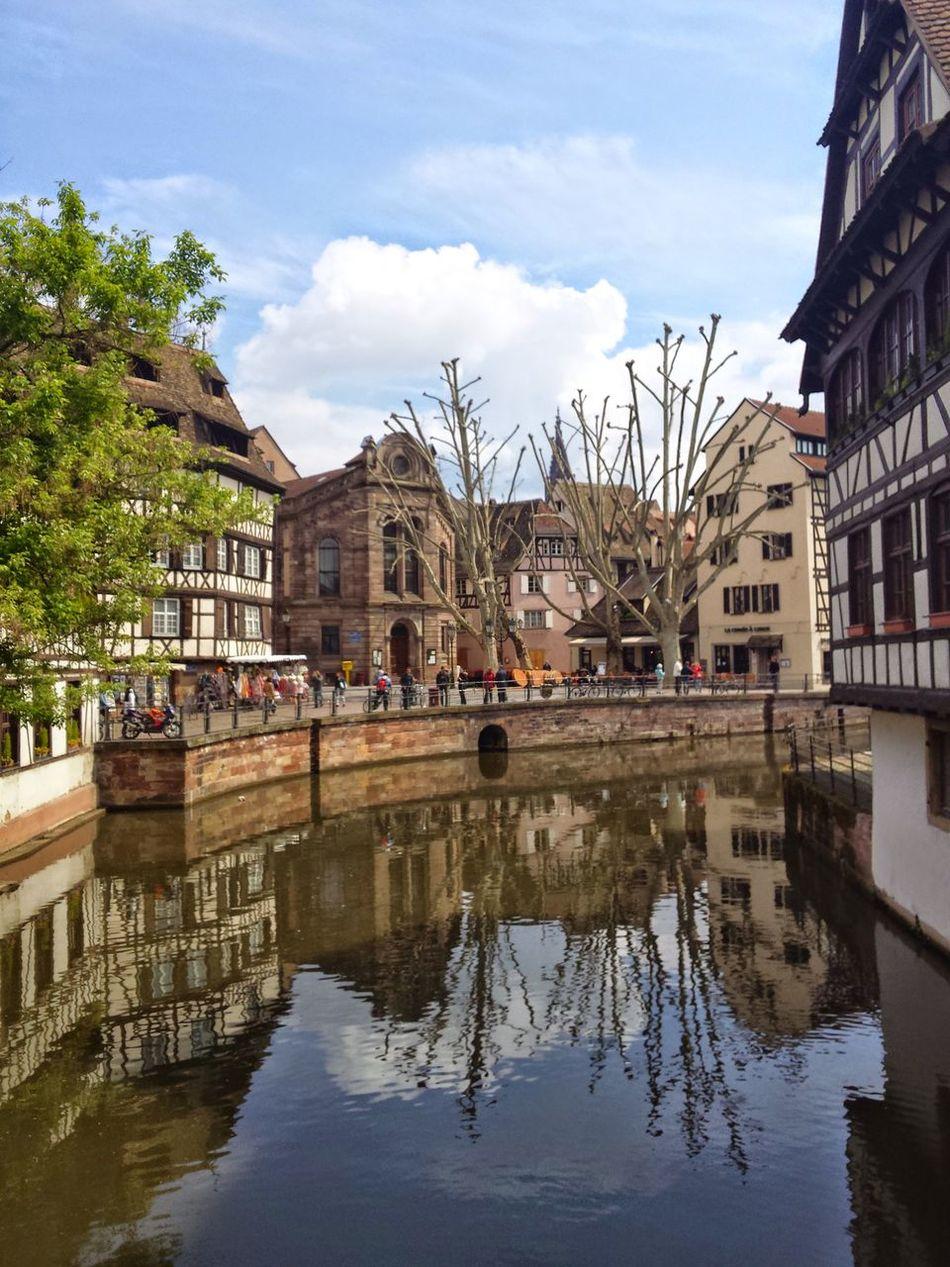 Strasbourg Mirroring In Water Travel Travel Destinations City Tourism