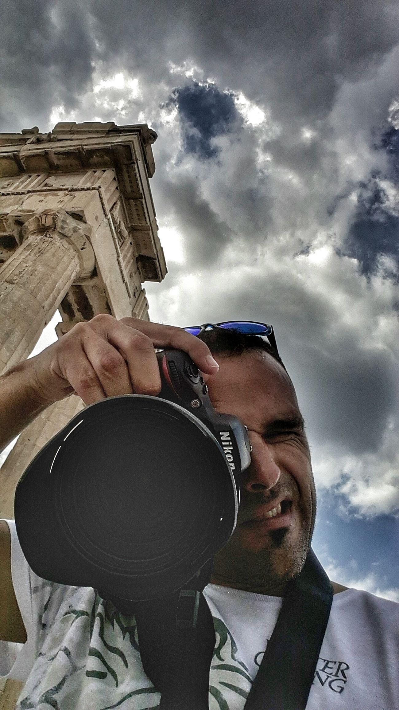 Acrópolis (Atenas) Portrait Picoftheday That's Me Greece Parthenon Acropolis Greece Art Nikon D610 EyeEm Best Shots - People + Portrait Summer2016 Athens, Greece Eyemphotography Sky And Clouds Snapseed Popular Photos Traveling Hi!