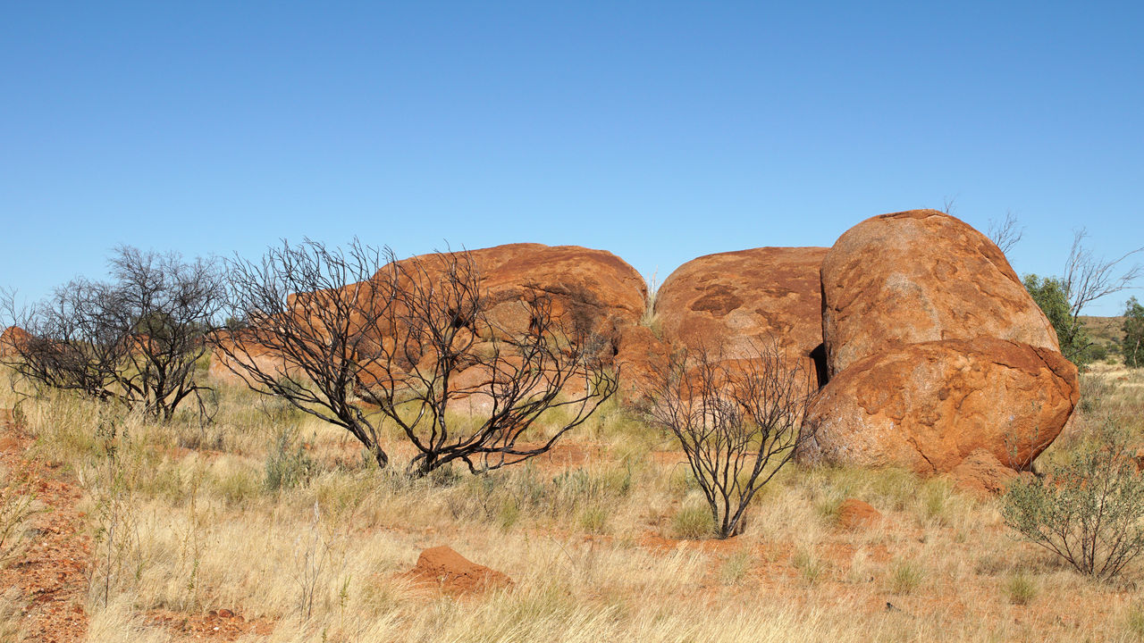 Devils Marbles, Stuart Highway, Northern Territory, Australia Australia Beauty In Nature Devils Marbles Geology Landscape Nature Northern Territory Outback Outdoors Panorama Rocks Scenery Scenics Sights Stuart Highway Tourism Tourism Destination Tourist Destination Tranquil Scene Travel Travel Destinations Traveling