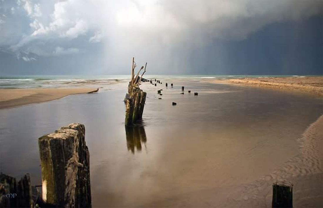 Nature Landscape Beach Outdoors Sea Rural Scene Beauty In Nature Beauty Sand Scenics Water Cloud - Sky No People Day Sky Rainfall Raincloud Shower Strong Weather Tversted Uggerby Danmark