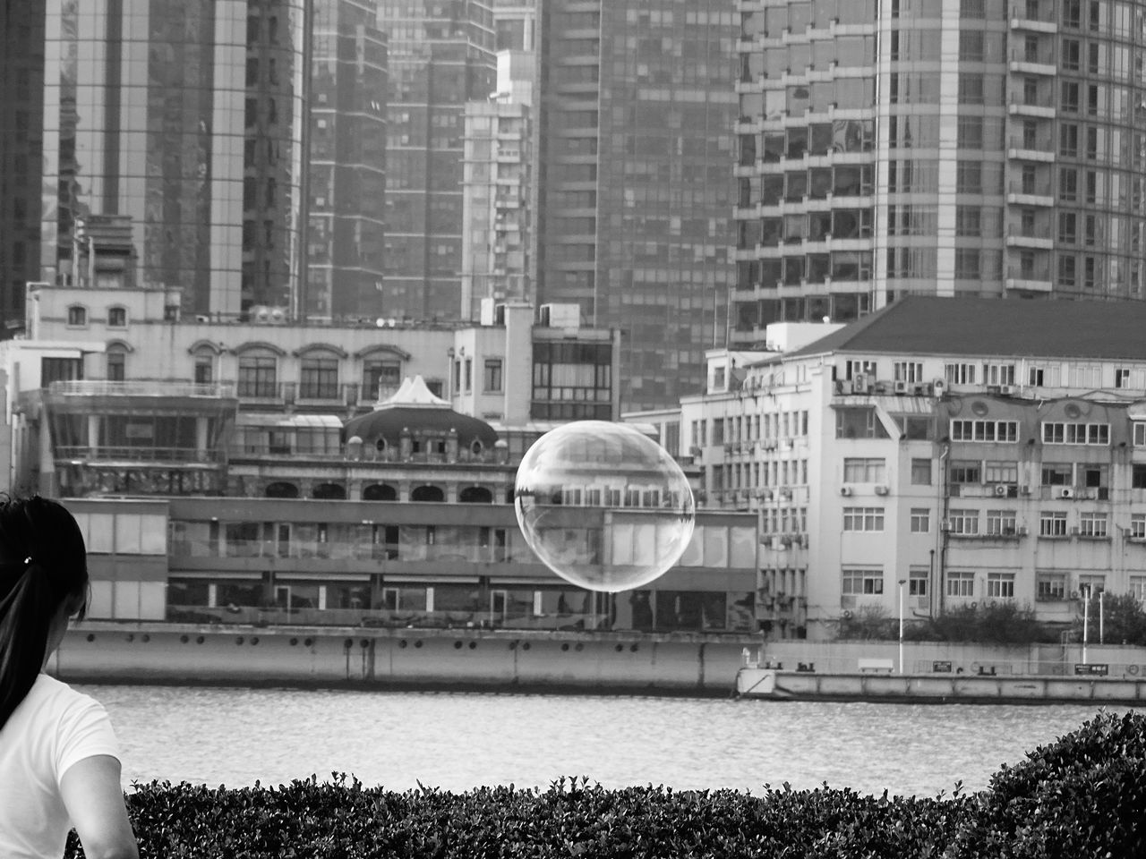 architecture, building exterior, built structure, real people, day, bubble, outdoors, nature, city, bubble wand, tree