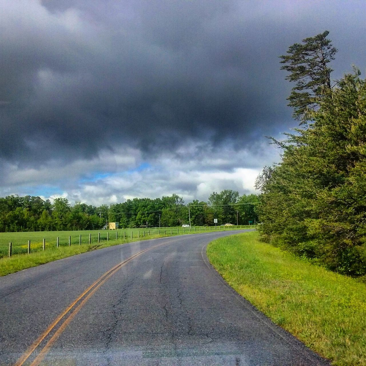 Storm Clouds On The Road Beautiful Day Nice Colors Pinefield MD USA