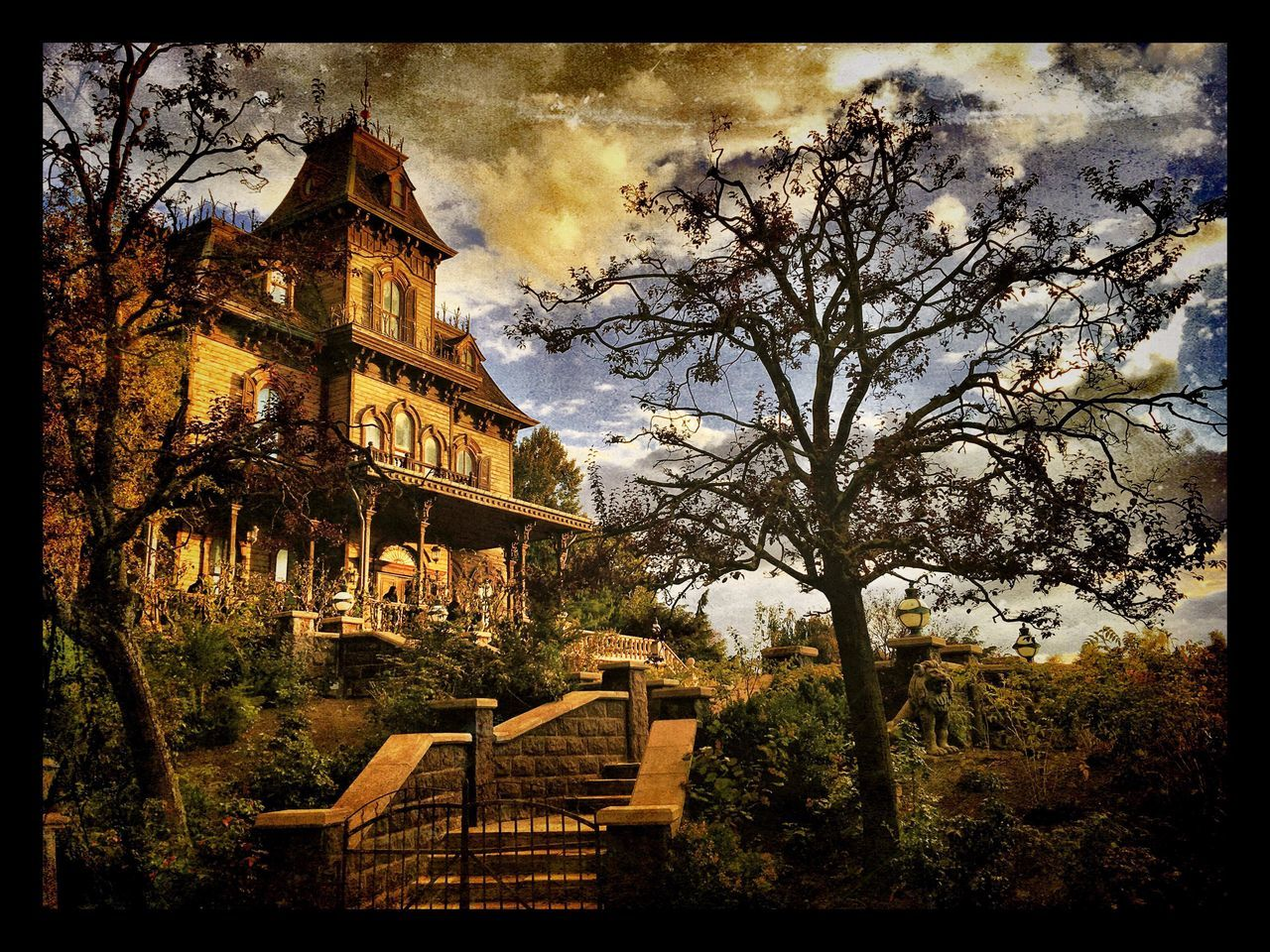 Disneyland Paris Disney Disneyland Phantom Manor IPhoneography Filter