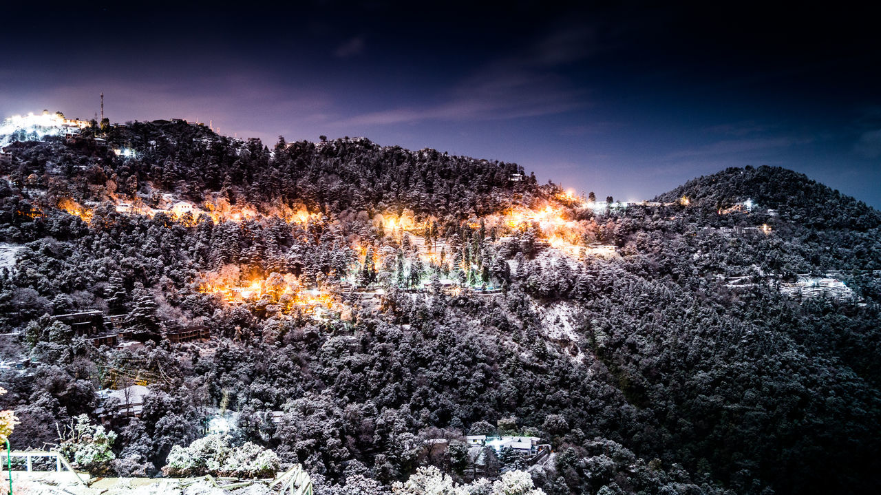 Night after snowfall Night Beauty In Nature Scenics Landscape Mountain Snow ❄