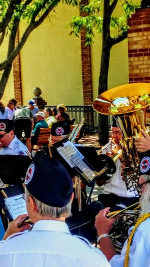 Men Real People Music Community Adult Musical Instrument Outdoors Day Only Men Musician Sunlight Eyeem Market Irwin Collection Summertime ☀ Band At The Market. Veterans Trumpet American Legion Holiday POV 4th Of July 2017 EyeEm Gallery Sommergefühle Arts Culture And Entertainment Tuba