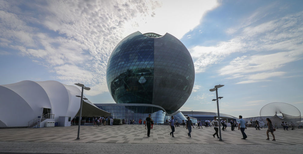 Business Finance And Industry Sky Architecture Modern Day Outdoors EXPo2017 Kazakhstan Expo2017AstanaKz Expo 2017 Future Energy Travel Destinations EyeEmNewHere Been There.