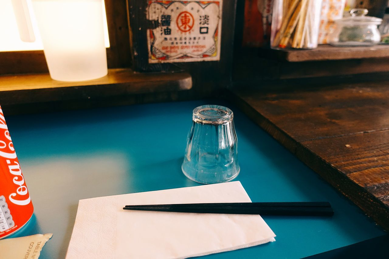 that blue//. Blue City Close-up Drink Eat Foodie Glass Indoors  Japanese  Japanese Style Life Lifestyles Light Minimal Minimalism Minimalist No People Oldtime Paris Streetfood Table Travel Waiting Warm