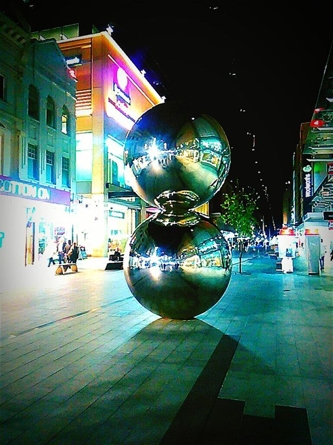 Rundle Mall Adelaide, South Australia Streetphotography Taking Photos Sculpture Mallsballs South Australia Silver Balls Rundlemall Check This Out