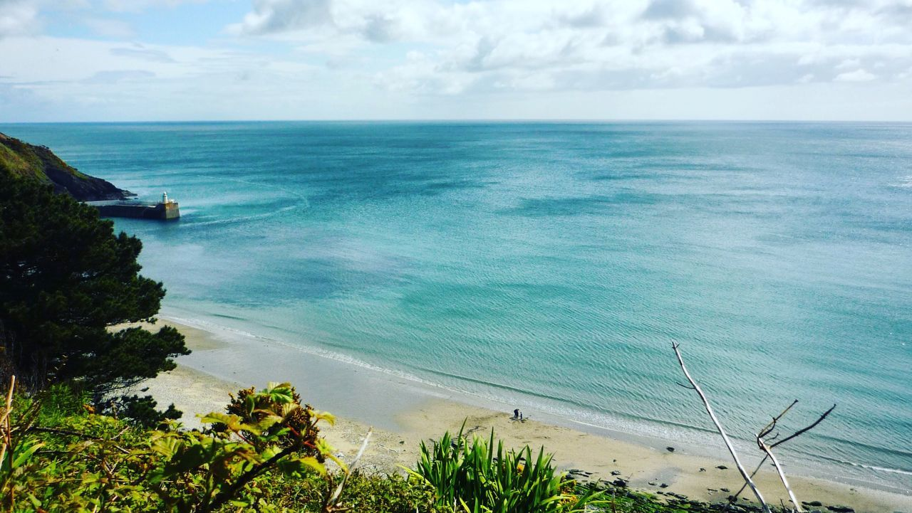 Sea Horizon Over Water Sky Water Scenics Beauty In Nature Tranquil Scene Nature Cloud - Sky Tranquility High Angle View Day Outdoors No People Blue Tree Isle Of Man Laxey Julian Melling Real People People Sommergefühle