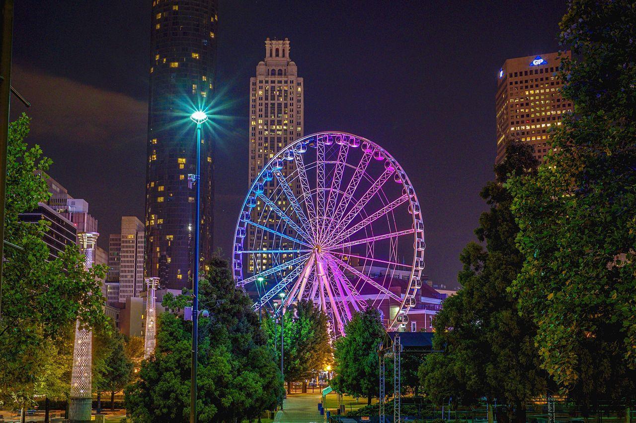 Centennial Olympic Park • Atlanta, GA • 2015 Atlanta Atlanta Ga Centennial Olympic Park Centennial Park  Parks Ferris Wheel Ferriswheel Nightphotography Night Photography EyeEm Best Shots EyeEm Gallery Ferris Wheels EyeEm EyeEmBestPics