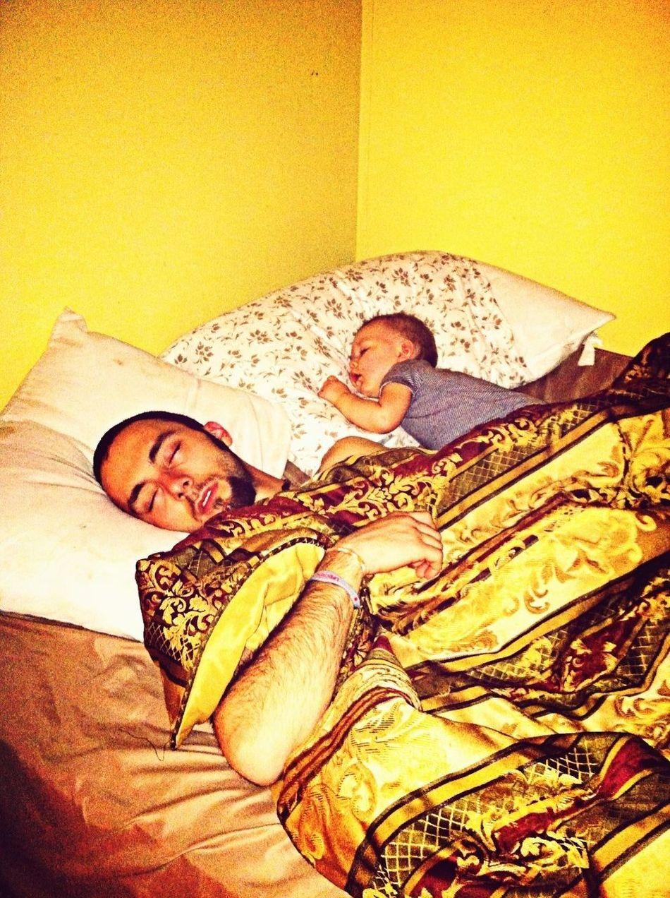 Me And Preslee Sleeping Like Little Baby Lol