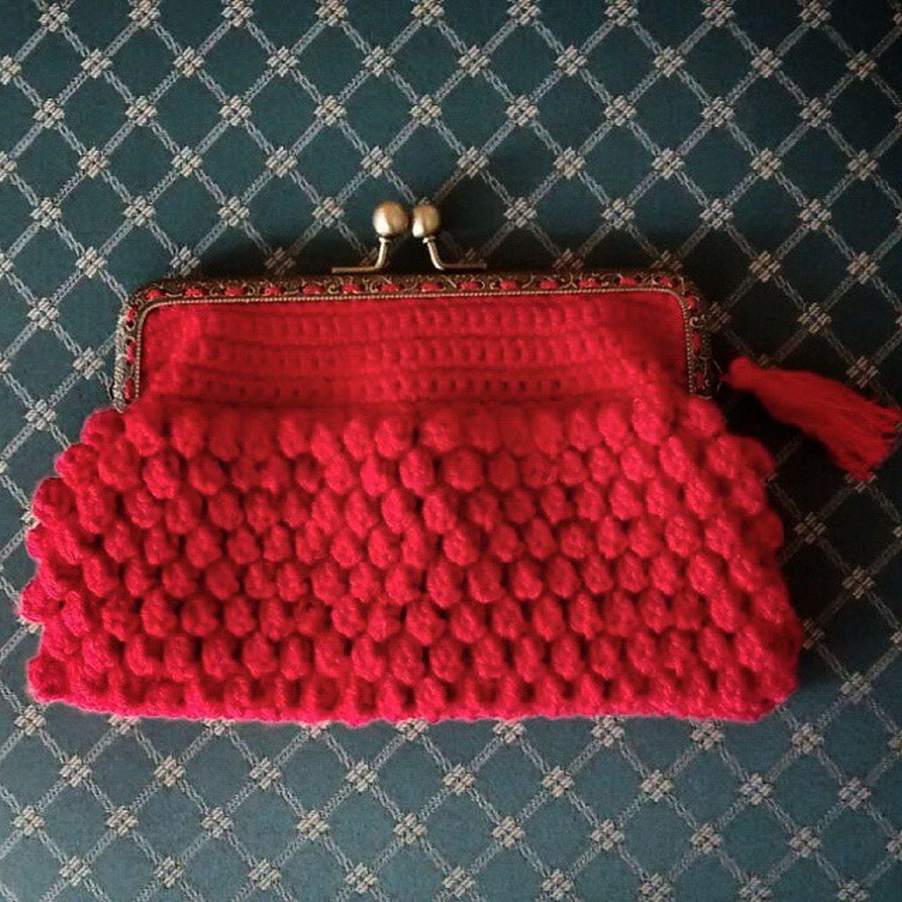 Finiquitado!! Coinpurse Monedero Popcornstich Crochet Ganchillo Yarn Red Handmade Handmadewithlove