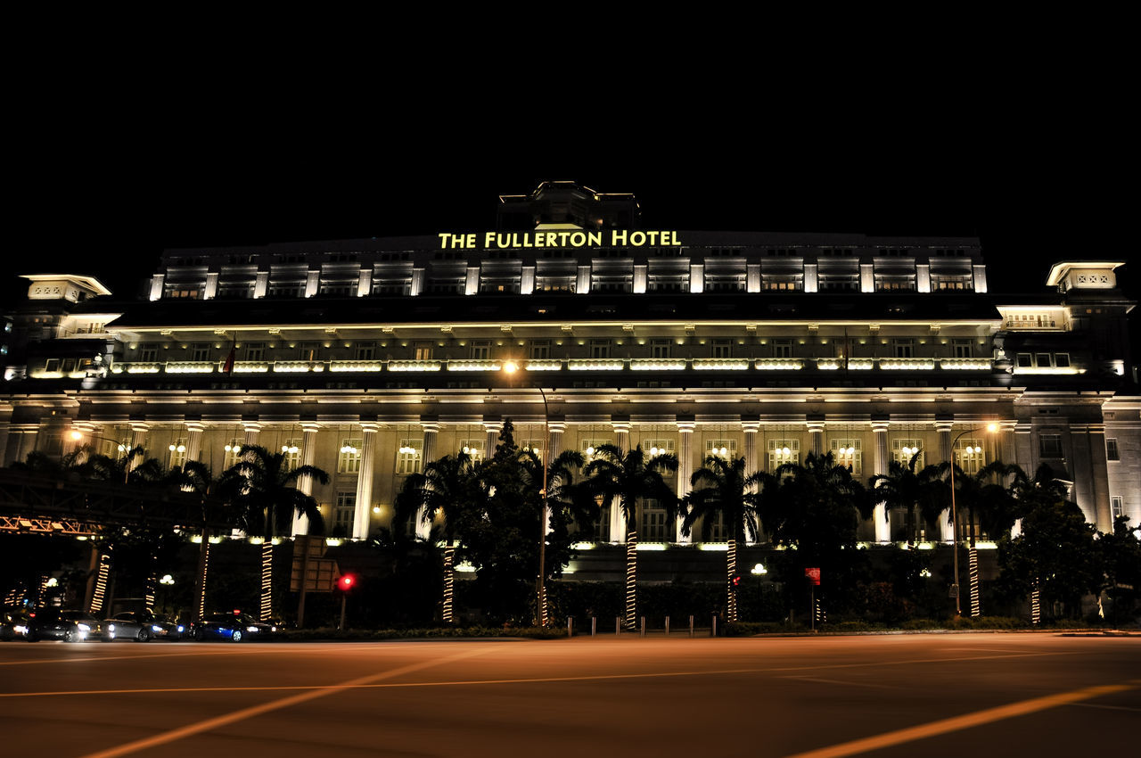 Fullerton Hotel Architecture Asian  Bayfront Bayfront Park Building Business Center City Close-up Commercial Dock Downtonw Dusk Dusk In The City Evening Evening Sky Financial District  Harbor Harborfront Hotel Island Luxury Marina Night Travel