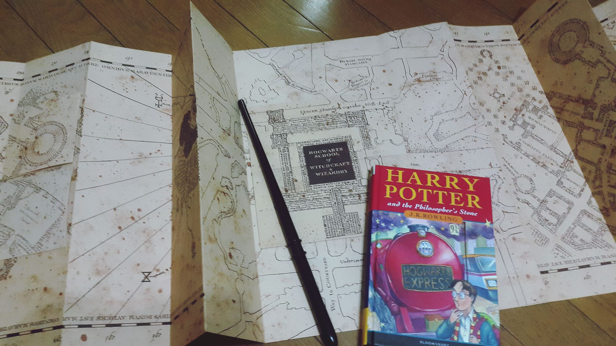 The Marauders Map Harry Potter Magic Hogwarts School Of Witchcraft And Wizardry