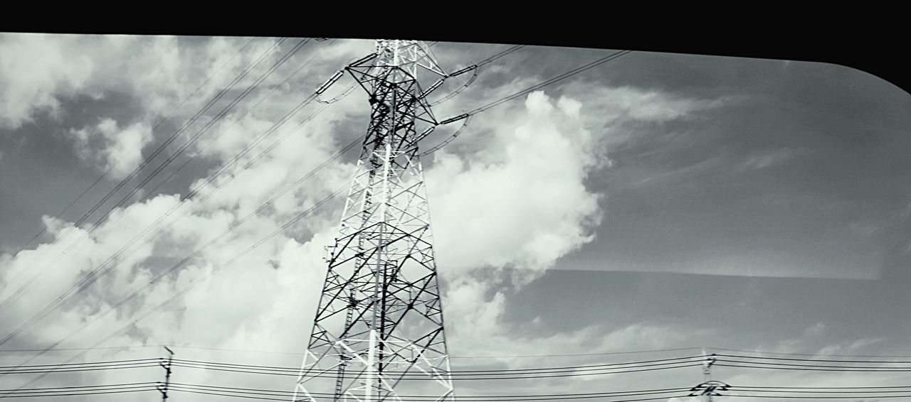 Learn & Shoot: Leading Lines EyeEm Best Edits Overhead Wire High Wire Wires In The Sky Wireframes Wire And Clouds Wires Up The Sky Sky And Clouds Sky And Wires