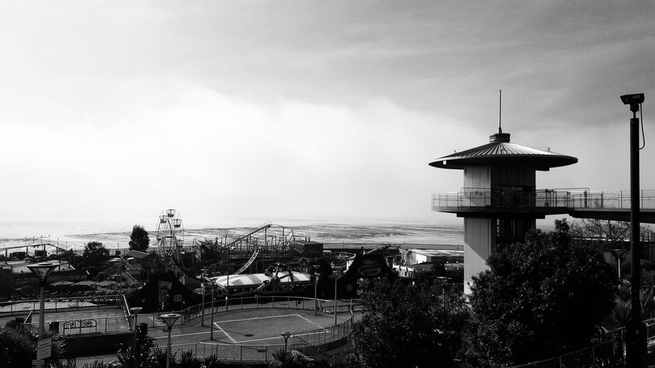 Seafront Seafront Views Seafront Adventureland Southend On Sea Southend Southend Seafront April Spring Black And White Photography
