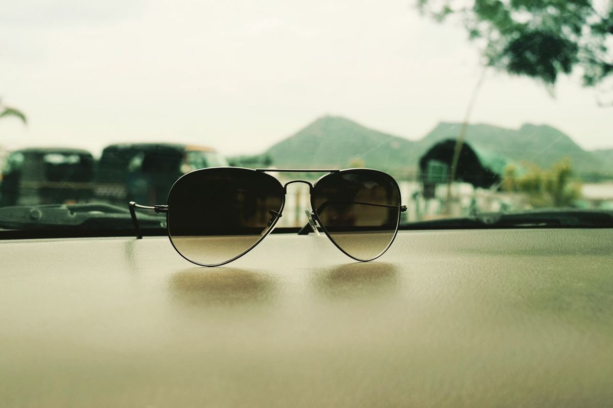 Aesthetic Artificial Beauty Day No People Rear View Sunglasses aviat Aviator Sunglasses Dashboard View
