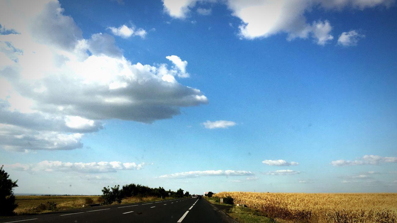 Road Blue Cloud - Sky Day Romanian Girl Romanian Lands