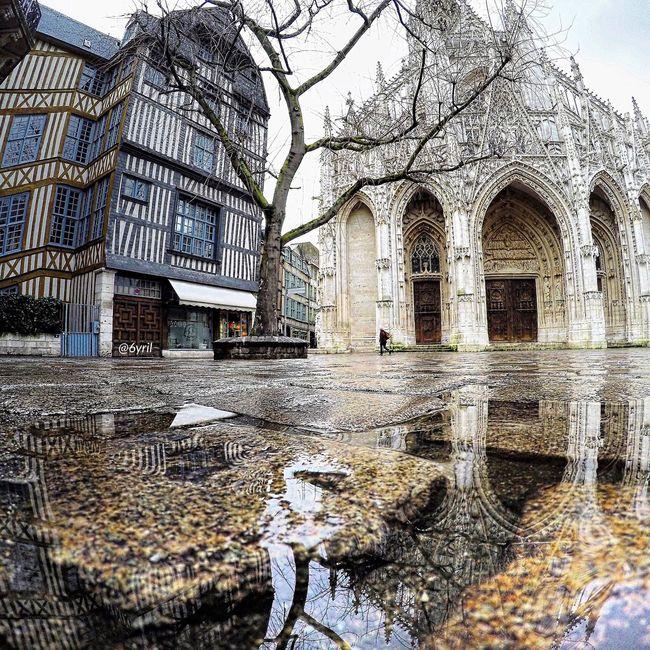 Rouen Rouen, France Rouentourisme Normandie Normandy Normandie France France Francia Puddle Puddle Reflections Reflection Reflections