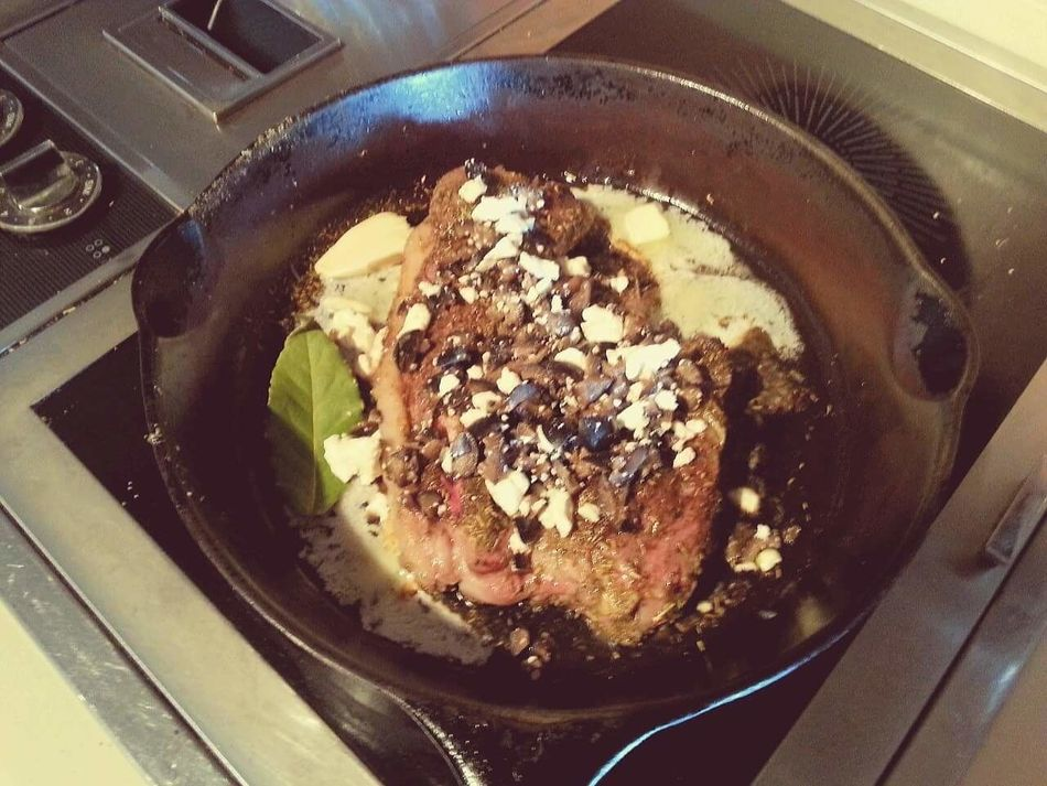 Lambchop in a Rustic Iron Skillet