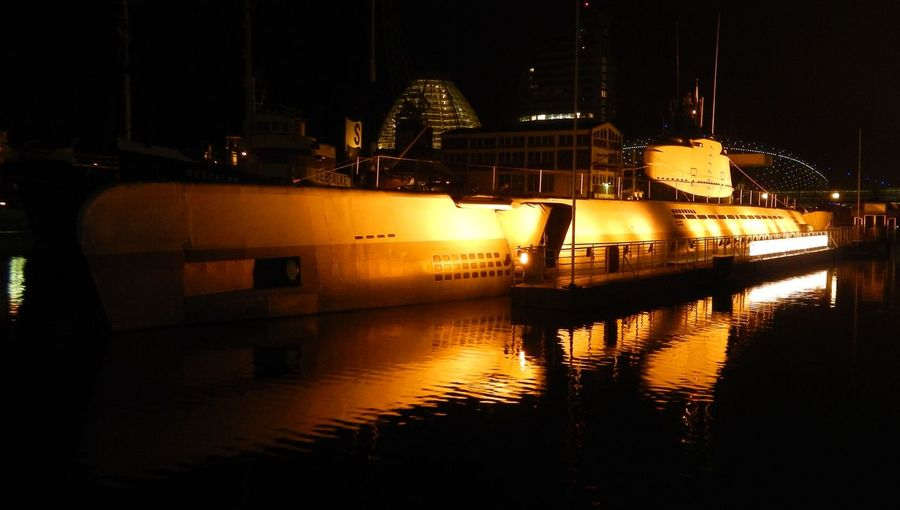 Submarine Yellow Submarine U2540 Wilhelm Bauer U-Boot Wilhelm-Bauer Ww2 WWII Nightphotography Night Lights Night Photography U-Boot  U-Boot Germany Nachtaufnahme Night View Night Views Nachtfotografie Night Light Tranquility Romantique Romantico Romantic Wanderlust Hello World Hi There Outdoors EyeEm Selects