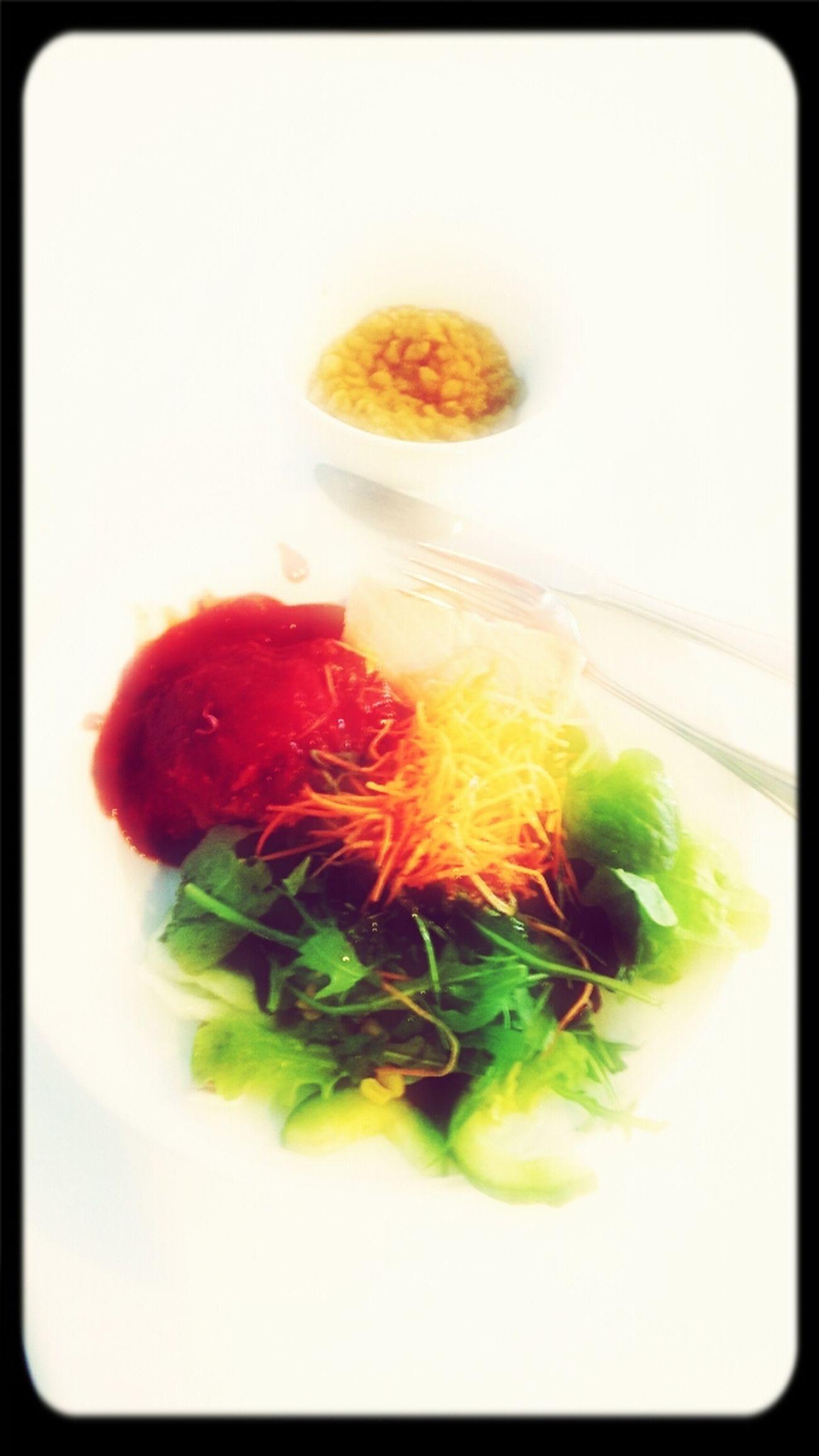 Company lunch :-P bwa ha ha ha... No carbs ;-) Seriously :-P
