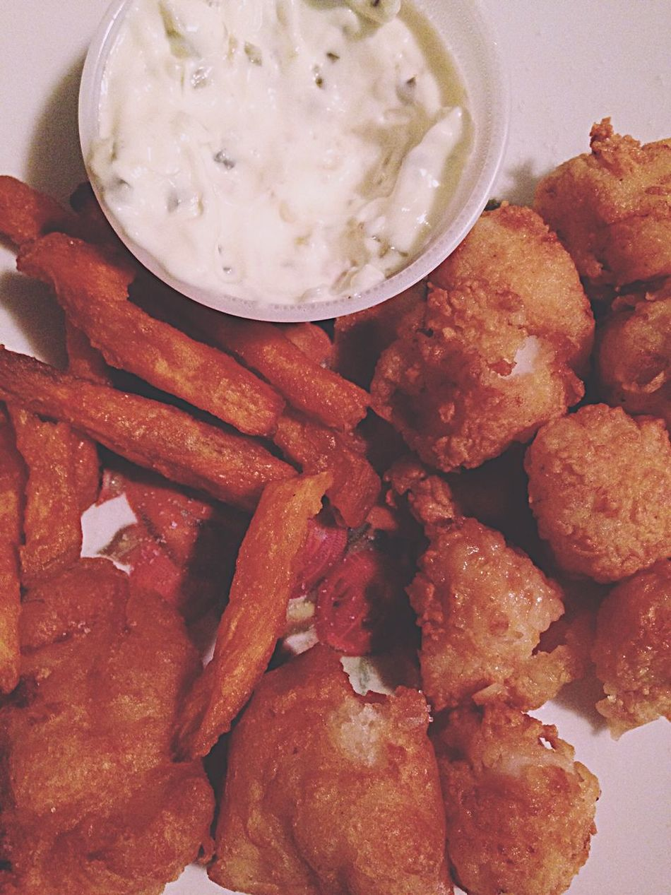 My World Of Food Fried Scallops Frenchfries Scallops Tartar Sauce Foodphotography Foodporn Fishnchips Yummy Mendon Massachusetts