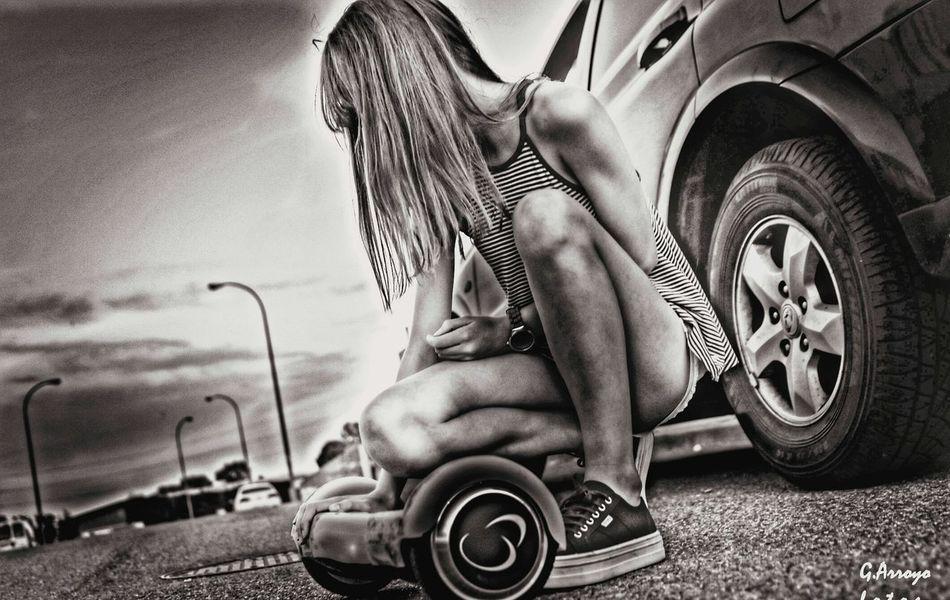 Hoverboard Hover Board Girl Power Girlpower Streetphotography Streetphoto_bw Street Life July 2016 Black And White Whiteandblack Madrid Spain Nikon D5500 Sport HDR Photo Editing Photoshooting EyeEm Gallery Eyeemphotography EyeEm Bnw
