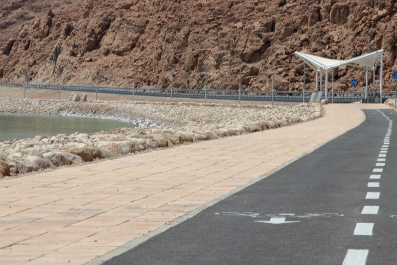 Day Dead Sea Beach Lowest Point On Earth Mountain Nature No People Outdoors Road The Way Forward Walking Path