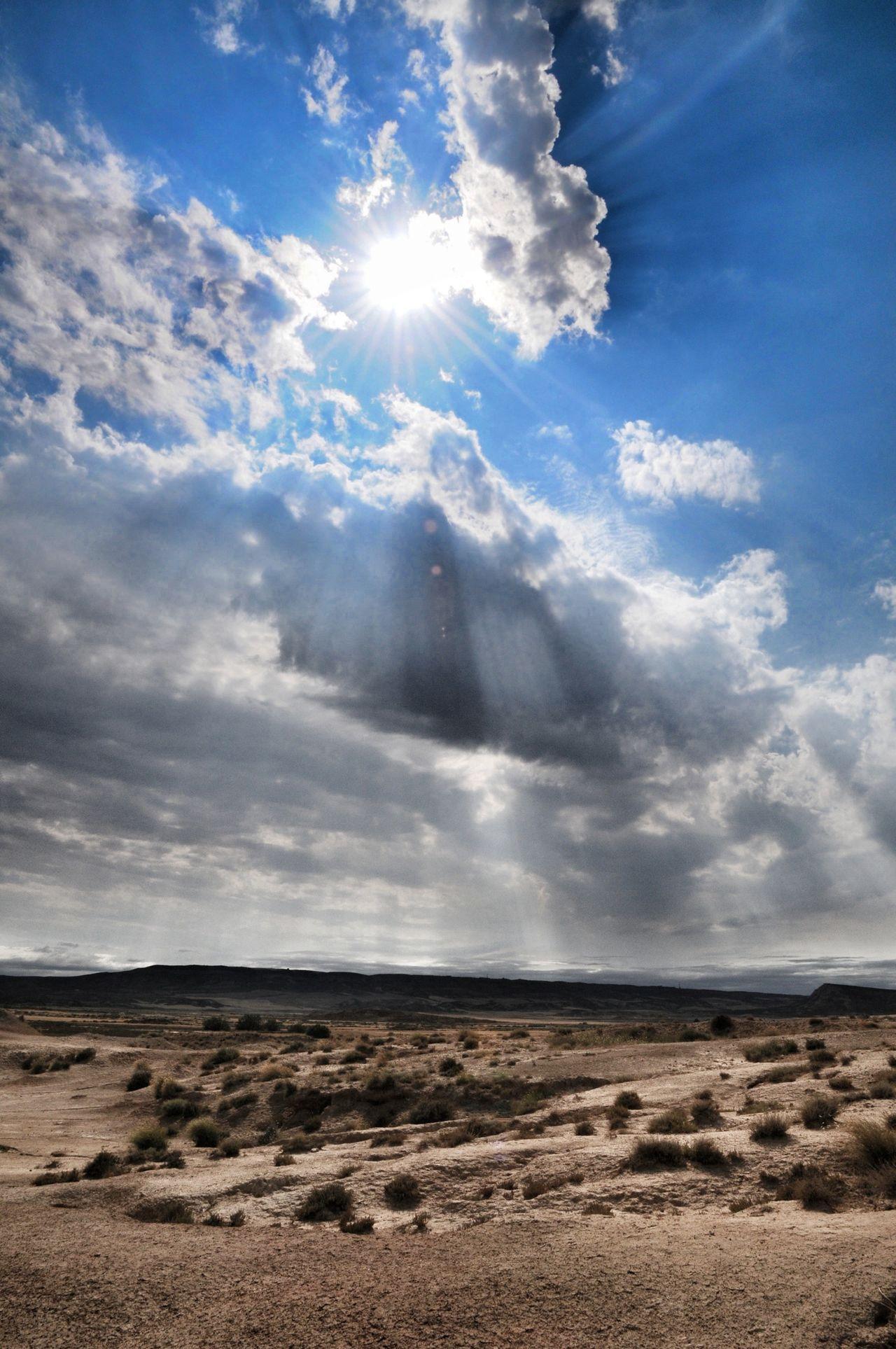 Sky Desert Light Nature Landscape SPAIN Bardenas Reales