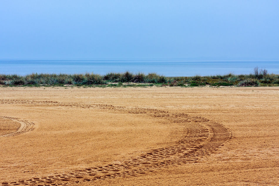 Beach Blue Day Horizon Over Water Landscape Nature No People Sand Sea Shore The KIOMI Collection Track Minimalism Minimalistic The Great Outdoors - 2016 EyeEm Awards