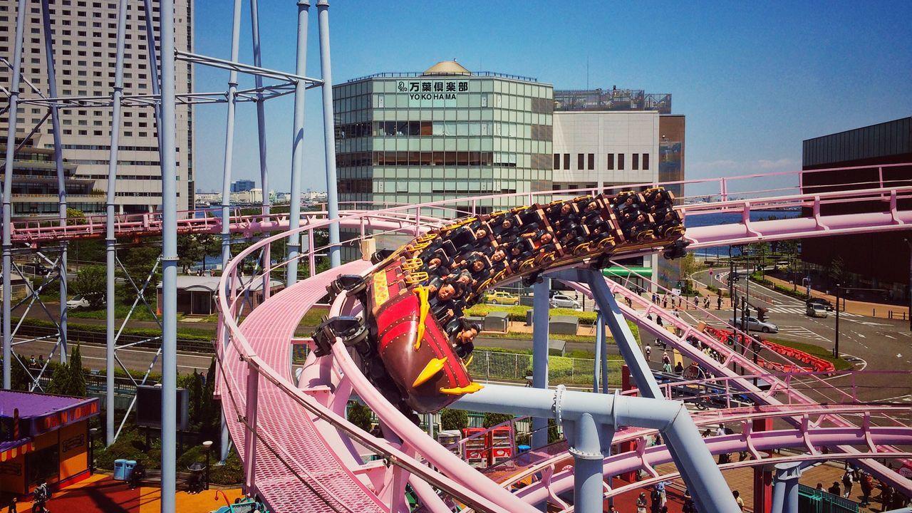 Weeeeeeee Japan Sunny Day Spring Roller Coaster Speed Thrill Rides Fun Joy Exhilarating Enjoying Life Colors