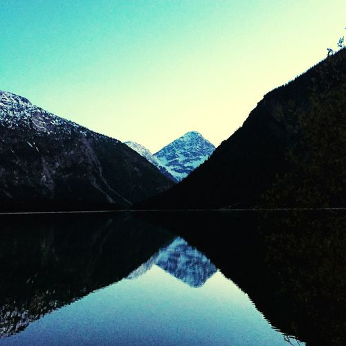 Reflection Mountain Clear Sky Tranquil Scene Nature Mountain Range Beauty In Nature Scenics