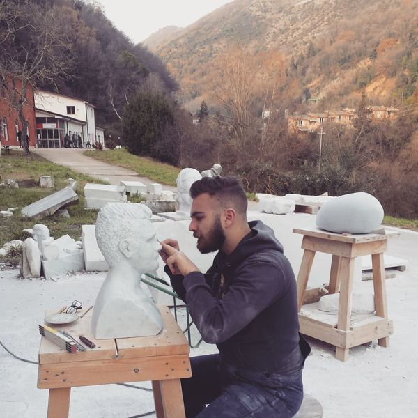 Accademia Delle Belle Arti Working Artistic Photo Carrara Nature Marble White Marble Sculpture Art Concentration Autoritratto First Eyeem Photo Carrara Marble Sculpture