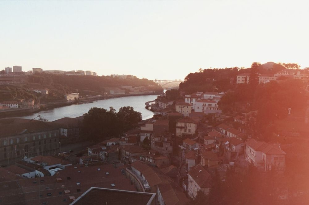 Rooftop Analogue Photography 35mm Sunny Day Sunset Porto Portugal Wiew