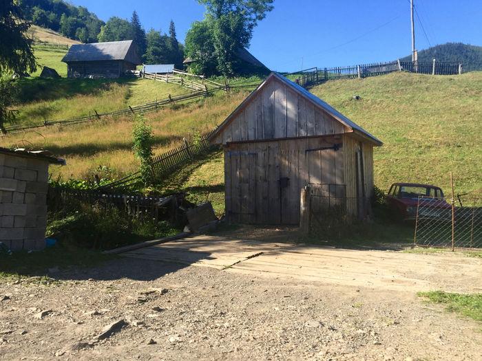 Built Structure Hills Landscape No People Tranquil Scene Village Wood - Garage Woodhouse